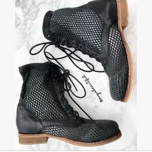 Jeffrey Campbell Black Gordon Mesh Boots